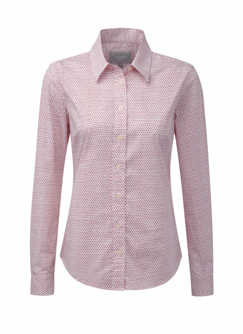 schoffel-suffolk-coral-dot-ladies-shirt