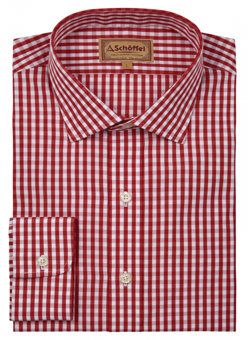 schoffel-harlington-red-check-mens-shirt