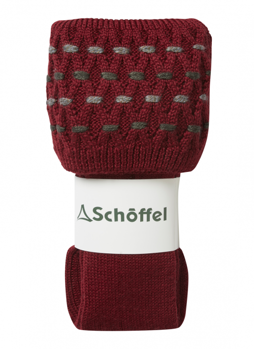 schoffel-stitch-claret-ladies-shooting-socks