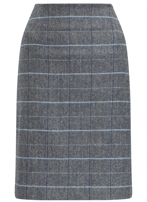 alan-paine-surrey-ladies-tweed-lake-blue-skirt-limited-edition