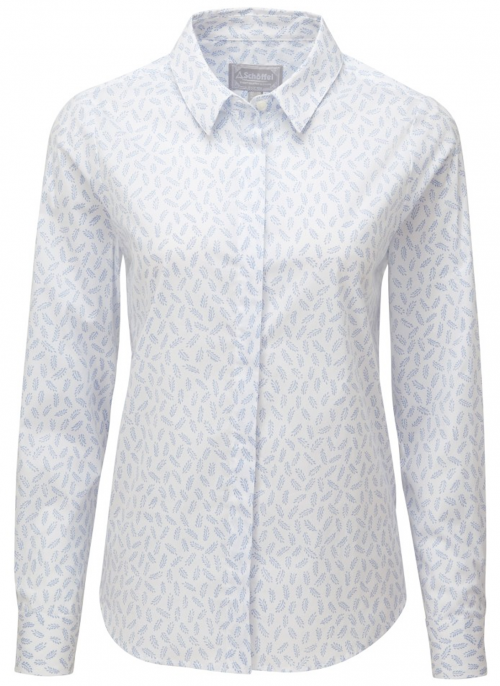 schoffel-sunningdale-barley-blue-ladies-shirt