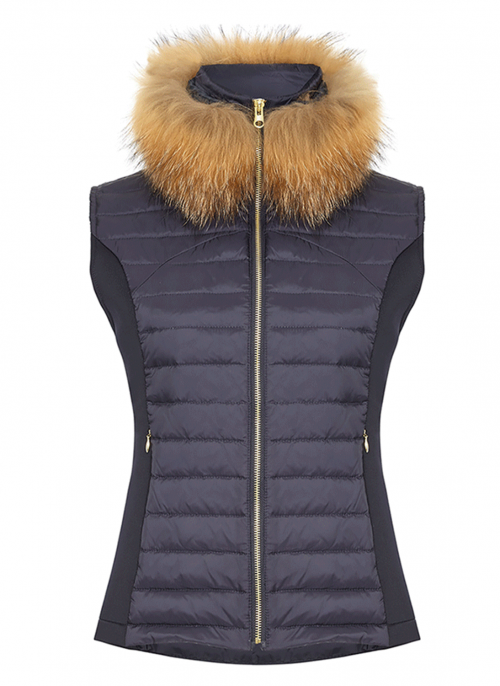 guinea-navy-gilet-with-faux-fur-collar-luxe