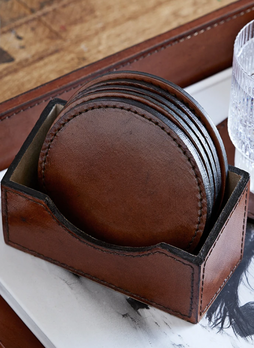 life-of-riley-6-leather-coasters