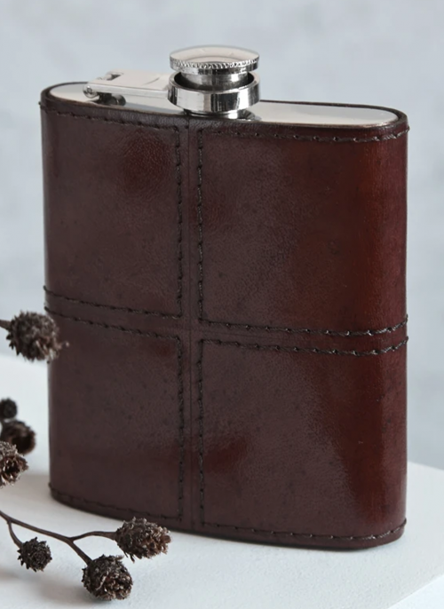 life-of-riley-leather-hip-flask
